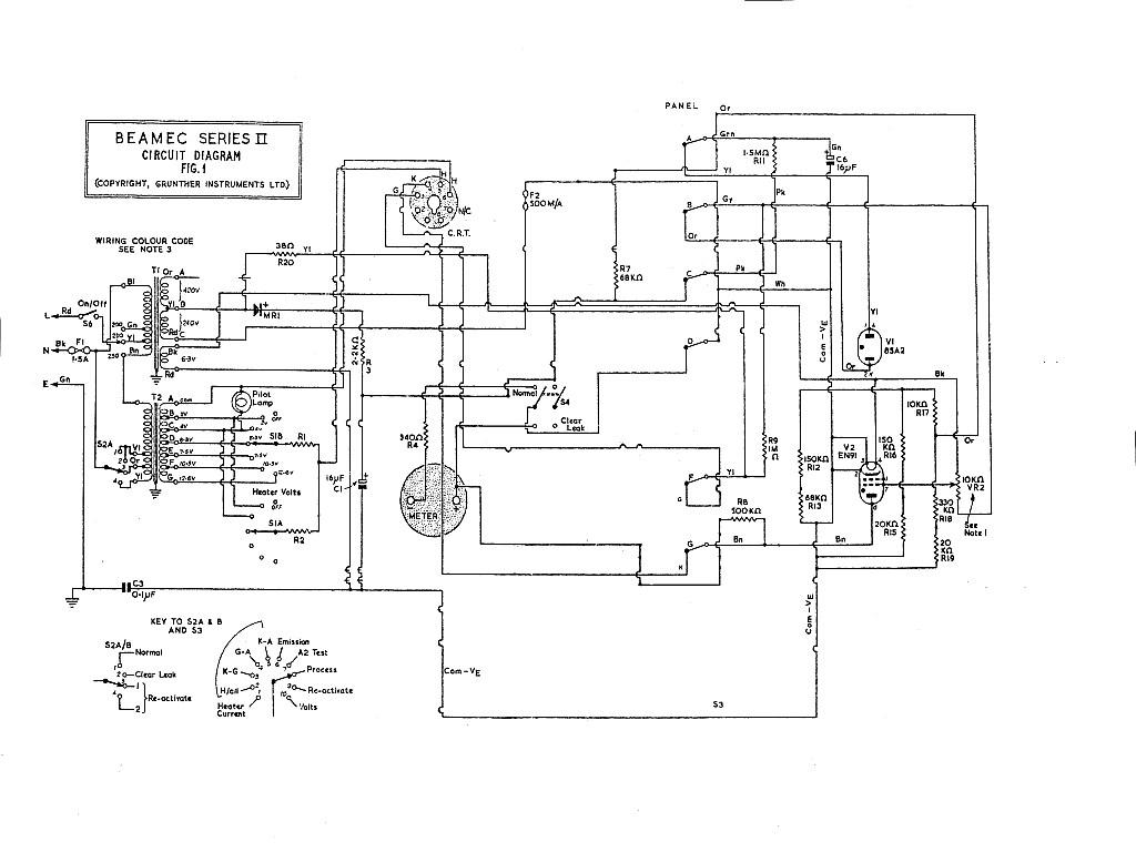 Beamec CRT tester and reactivator. – Test Equipment