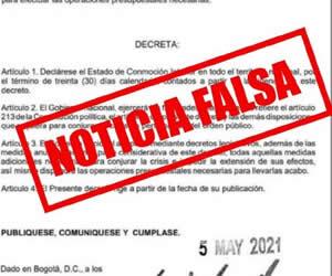 La medida permitiría, entre otras cosas,. Decreto De Conmocion Interior Que Circula Por Redes Sociales Es Falso Noticias Principales De Colombia Radio Santa Fe 1070 Am