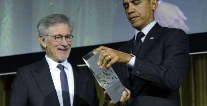 Spielberg-Obama-AP
