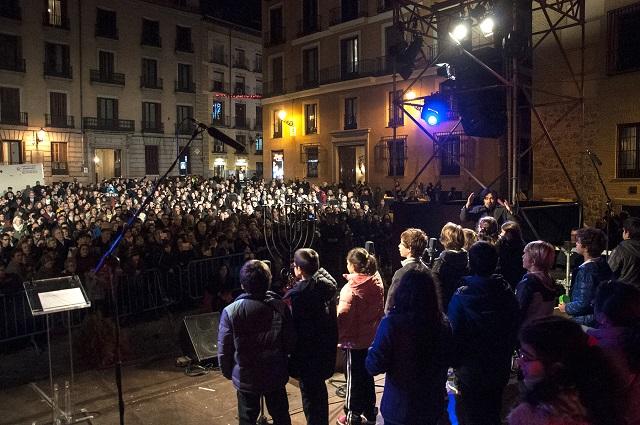 Janucá en la calle (Plaza de la Villa, Madrid, 18/12/2014)