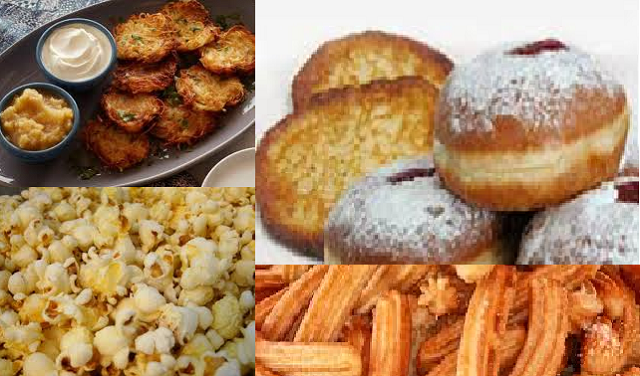 Sufganiot, latkes, churros y pop-corn