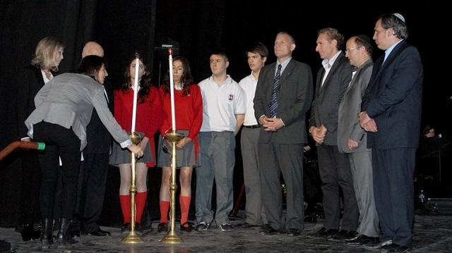 Acto central por el Día del Holocausto (Yom haShoá) en Argentina (Buenos Aires, 21/4/2015)
