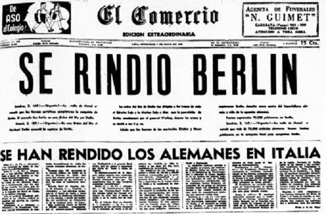 70 años de la rendición de Alemania en la II Guerra Mundial