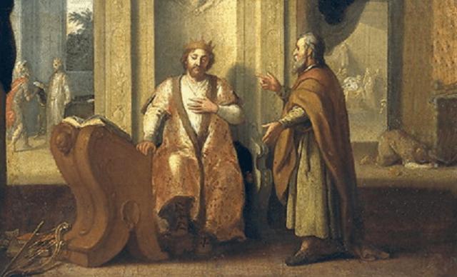 Salmo 51: David recibe al profeta Natán y pide perdón por su pecado con Betsabé