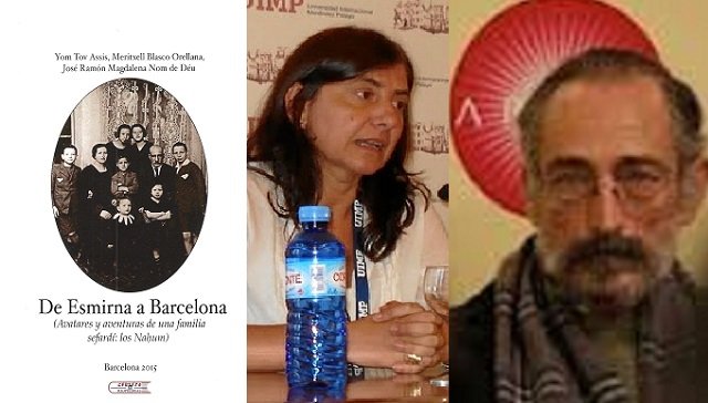 De Esmirna a Barcelona con los Nahum, con sus autores Meritxell Blasco y José Ramón Magdalena