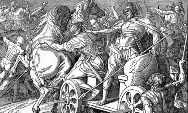 Acab, el rey; Tzebel (Jezabel), la reina; Elías, el profeta