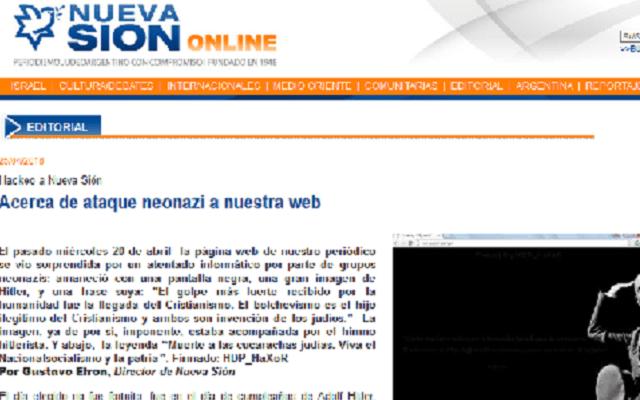 Neonazis atacan webs judías en el cumpleaños de Hitler