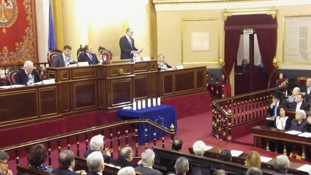 Acto de conmemoración del Día Oficial de la Memoria del Holocausto y la Prevención de los Crímenes contra la Humanidad (Senado de España, Madrid, 30/1/2017)