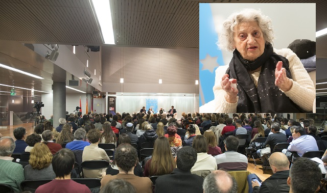 Annette Cabelli, testimonio en vivo de una superviviente de Auschwitz (Jardines de Cecilio Rodríguez, Madrid, 25/1/2017)