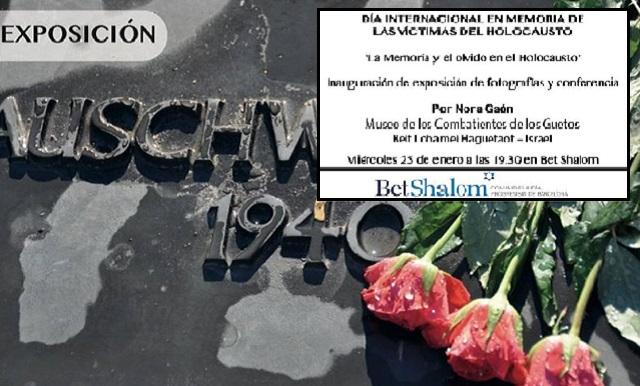 """Acto de inauguración de """"La memoria y el olvido en el Holocausto"""", con Nora Gaón (Bet Shalom, Barcelona, 25/1/2017)"""