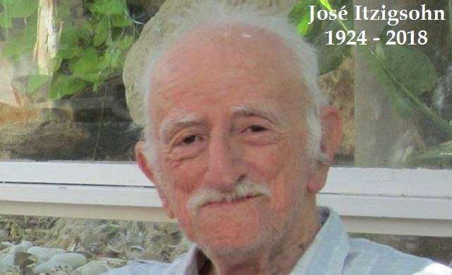 Adiós José Itzigsohn Z''L, hombre de lucha y paz, con Gustavo Efron