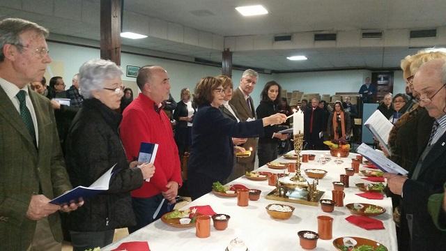 """Un """"seder de Pésaj"""" ecuménico en la Parroquia Nuestra Señora de las Delicias"""