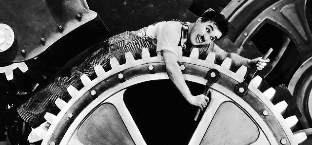 """""""Tiempos modernos"""", de Charles Chaplin (1936)"""