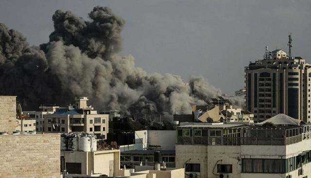 Lluvia de cohetes en Gaza e inmediaciones
