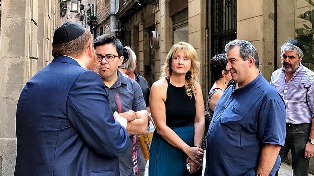 La calle Shlomó Ben Adret en el Call de Barcelona