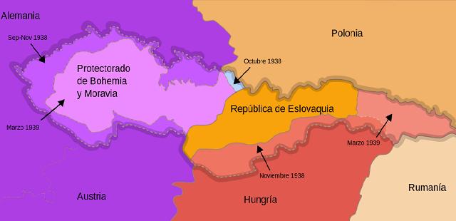 La invasión alemana de 1939 a Checoslovaquia