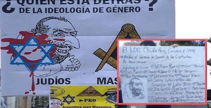 cartel antisemita argentino