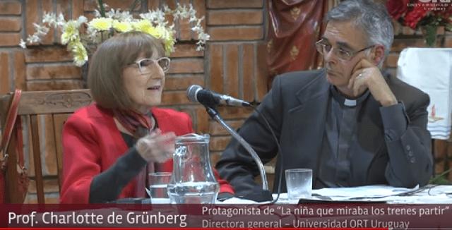 "Charlotte de Grünberg, ""La niña que miraba los trenes partir"" (Parroquia Santa Bernardita Soubirous, Montevideo, 6/10/2018)"