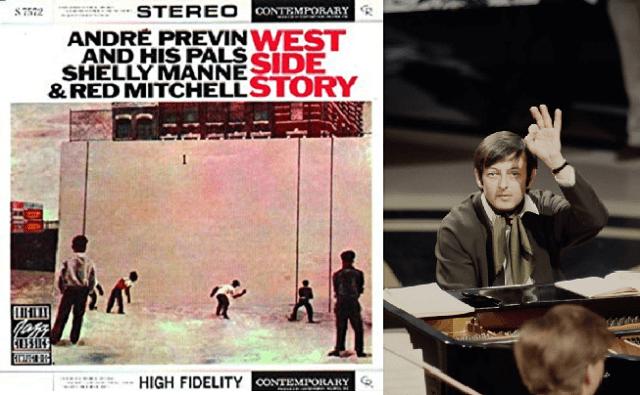 Temas de West Side Story de Bernstein, en versiones jazzísticas de André Previn y camaradas