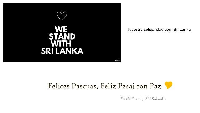 Solidaridad con Sri Lanka & Pascuas y Pesaj con Amor y Paz