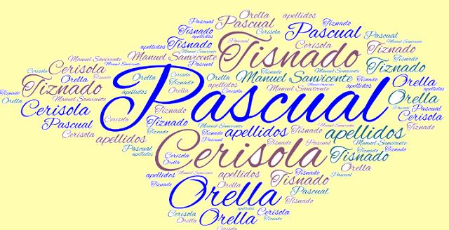 El origen de los apellidos Cerisola, Tisnado o Tiznado, Pascual y Orella