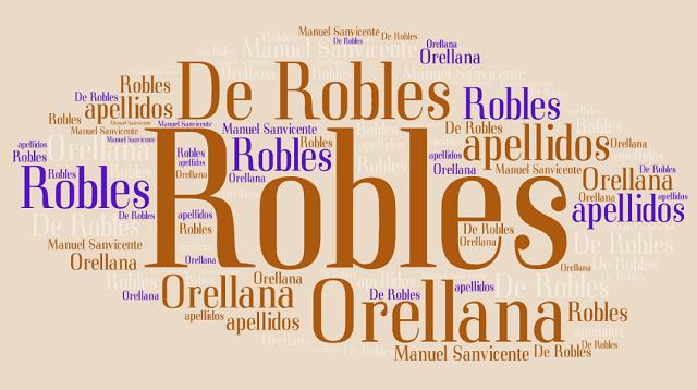El origen de los apellidos Orellana y Robles o De Robles