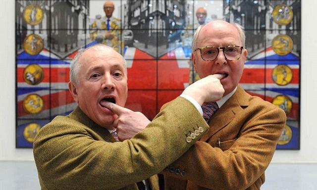 Gilbert and George,  exposición en la Fondation Louis Vuitton de París