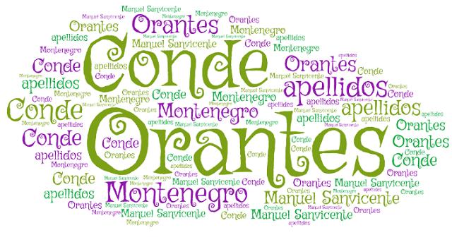 El origen de los apellidos Conde, Montenegro y Orantes