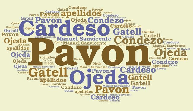 El origen de los apellidos Cardeso, Condezo, Ojeda, Gatell y Pavon