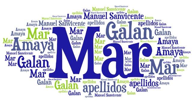 El origen de los apellidos Mar, Galán y Amaya