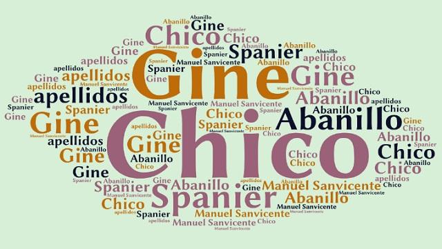 El origen de los apellidos Gine, Spanier, Chico y Abanillo