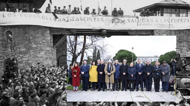 Homenaje a los deportados españoles víctimas del nazismo, con Concha Díaz Berzosa