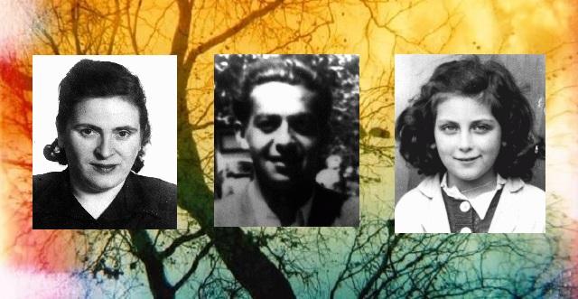 En nuestra memoria:  Paula Garfinkel ,  Elias (Elya ) Grosmann y la niña  Nadine Schatz