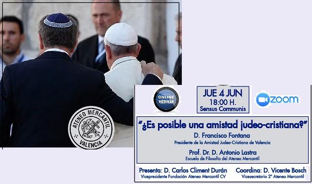 ¿Es posible una amistad judeocristiana? (online, 4/6/2020)