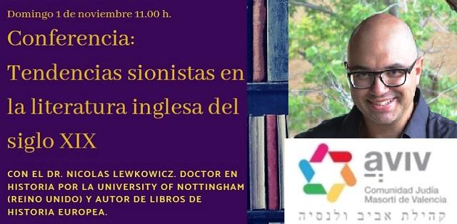 Tendencias sionistas en la literatura inglesa del siglo XIX, con Nicolás Lewkowicz (online, Aviv Valencia, 1/11/2020)