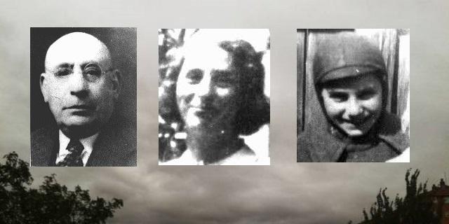 En nuestra memoria Jacob Unger, Dora Unger y la adolescente Shulim Saleschutz