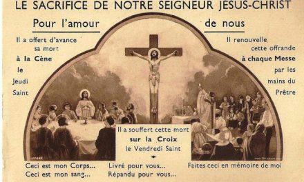 Immagine che spiega perchè il sacrificio della S. Messa è lo stesso della Croce