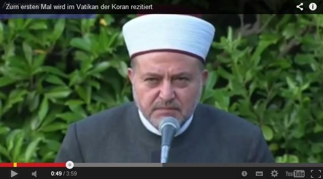 """L'Imam prega con Bergoglio per la """"vittoria sugli infedeli""""?"""