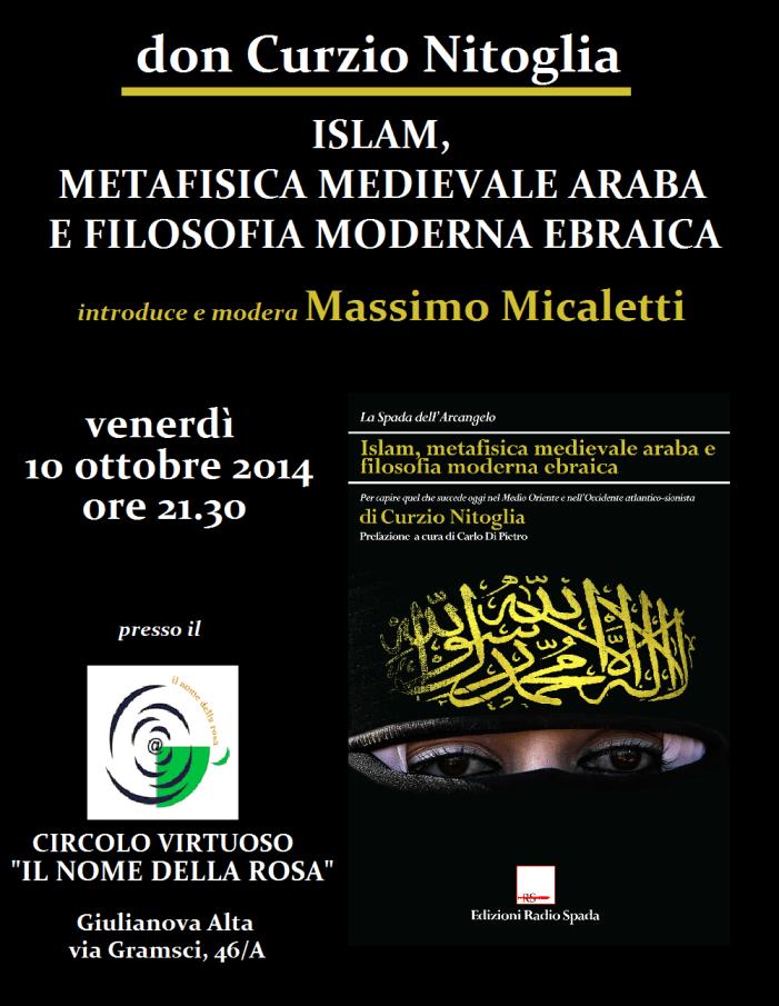 [EDIZIONI RADIO SPADA] 10 ottobre: don Curzio Nitoglia a Giulianova presenta il volume pubblicato con noi