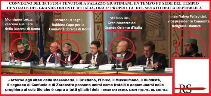 [FOTO] Conferenza massonica: c'è un Vescovo di Roma