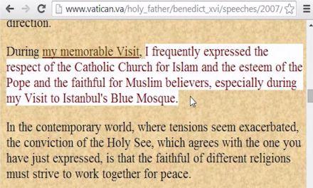 J. Ratzinger: Cattolici e Musulmani, stesso Dio? Stima per i credenti musulmani?