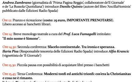 Ecco il volantino del 25 aprile 'radiospadista' a Reggio Emilia
