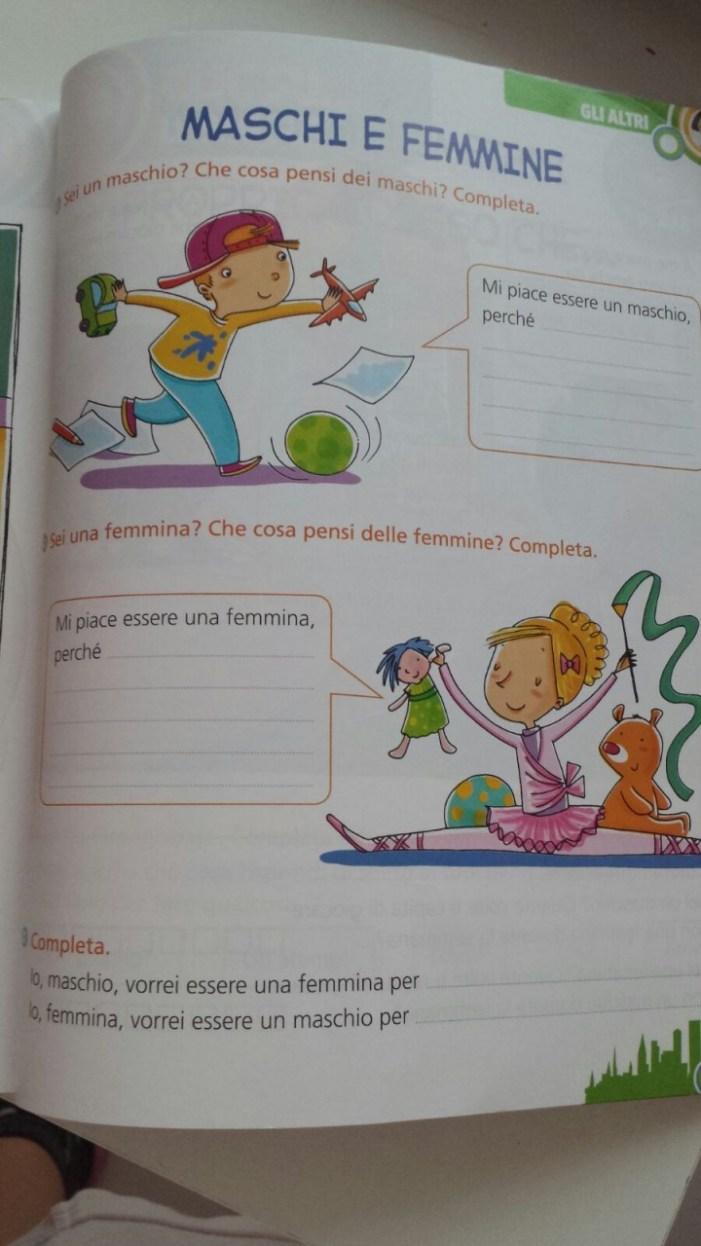 Ecco il libro di scuola 'gender-friendly' di cui Radio Spada ha parlato su Facebook.
