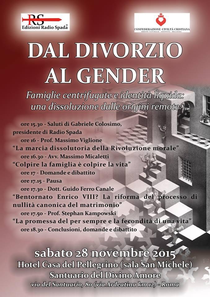 [VIDEO] In preparazione di 'Dal divorzio al gender', la registrazione del convegno RS-CCC svoltosi a Teramo il 22.5.15