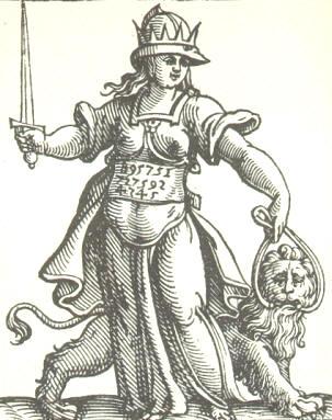 Ragione, da Cesare Ripa, Iconologia