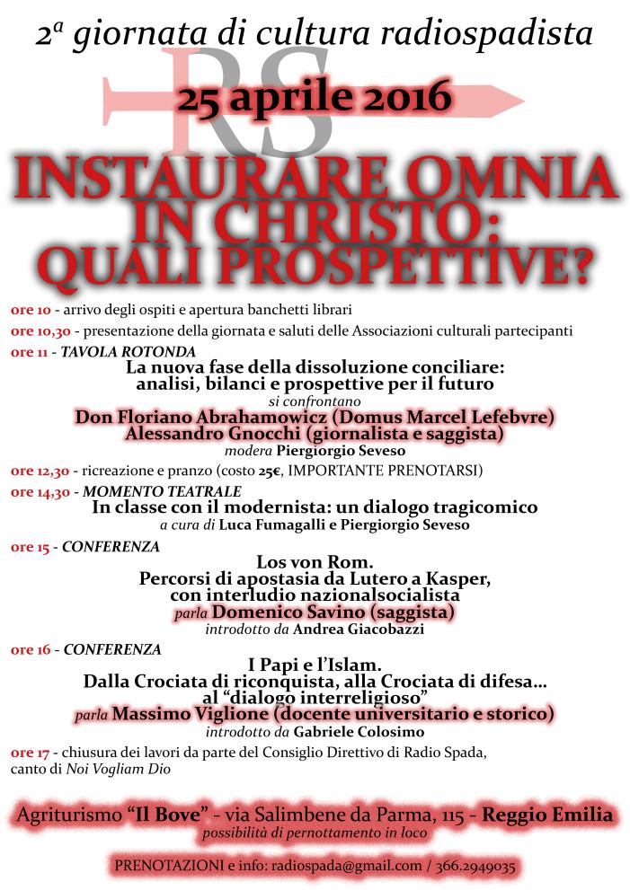Pronti? Il 25 aprile radiospadista ritorna a Reggio Emilia con relatori d'eccezione.