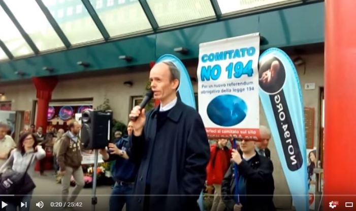 [VIDEO] Battaglia contro l'aborto. Discorso #No194 di Milano, aprile 2016