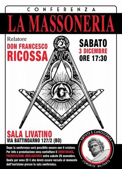Conferenza antimassonica a Bologna