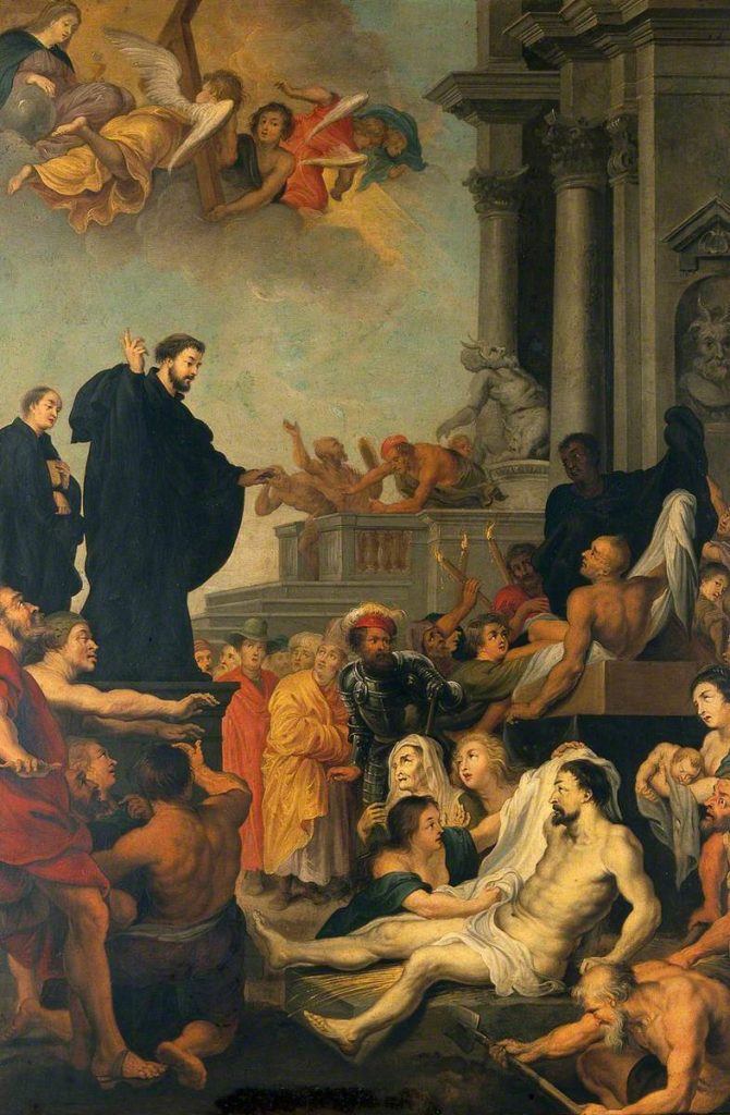 San Francesco Saverio predica e guarisce infermi (Rubens)