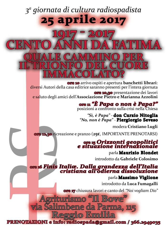 Il 25 aprile radiospadista ritorna a Reggio Emilia. Mettetevi l'anima in guerra.